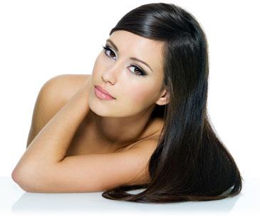 Keratin-Haarpflege